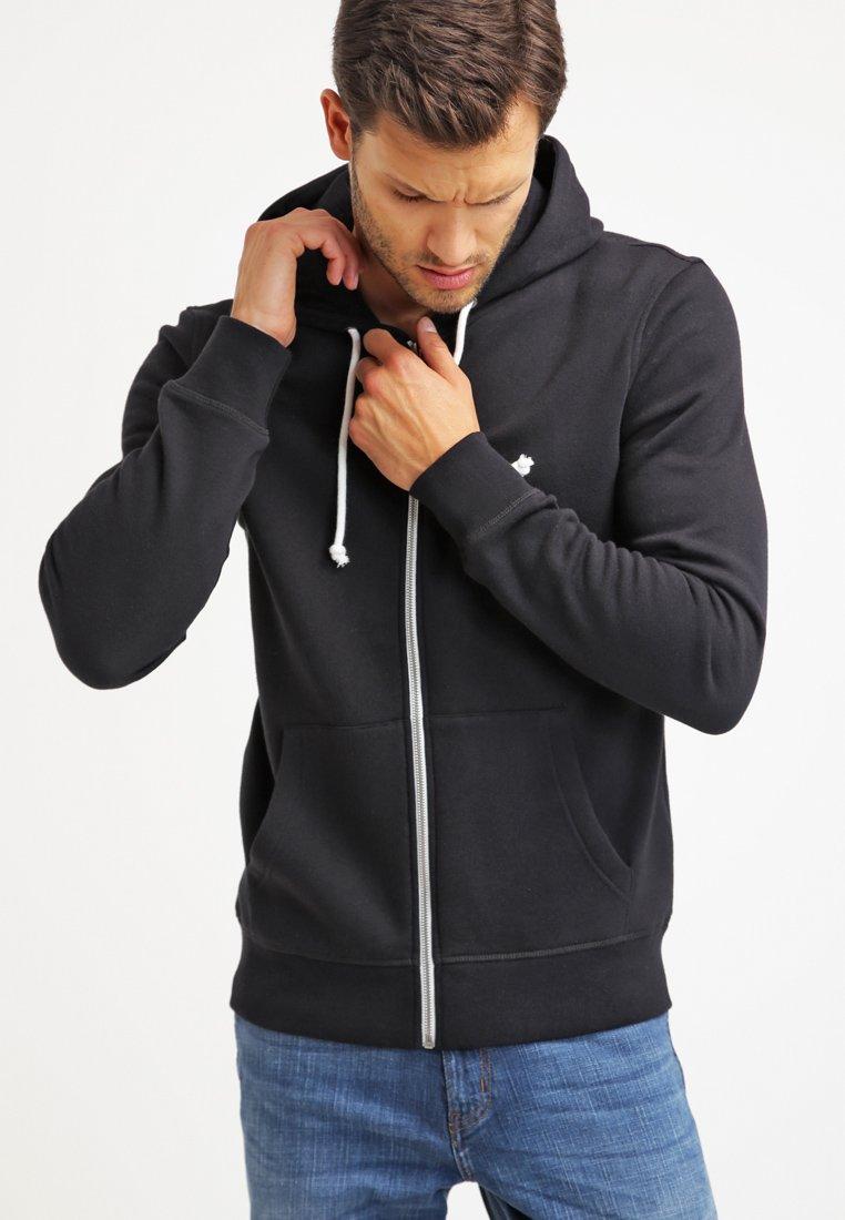 Pier One - veste en sweat zippée - black