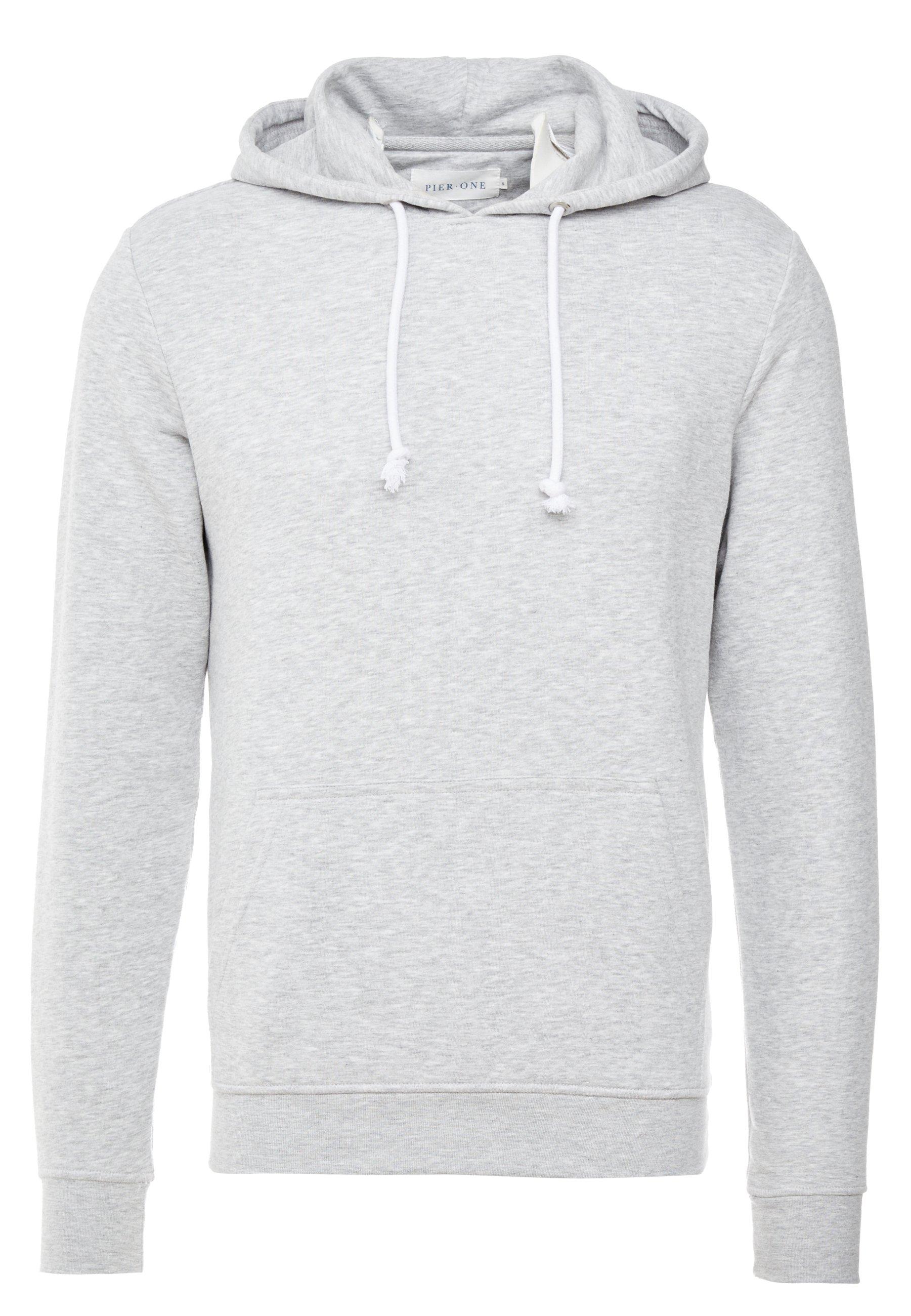 Pier One Bluza z kapturem - light grey melange