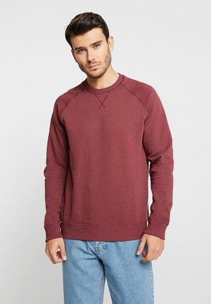 Sweater - mottled dark red