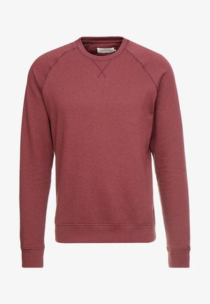 Sweatshirt - mottled dark red