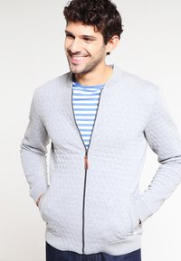 Pier One - Zip-up hoodie - light grey melange - 0