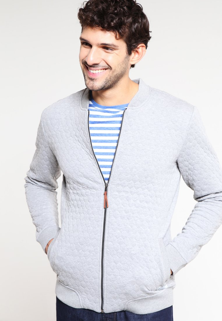 Pier One - Zip-up hoodie - light grey melange
