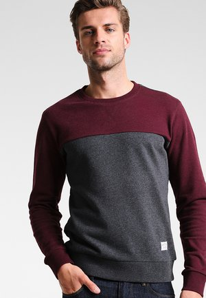 Sweater - mottled bordeaux