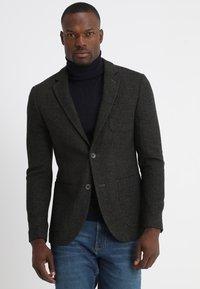 Pier One - Blazer jacket - mottled dark green - 0