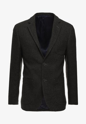 Blazer jacket - mottled dark green