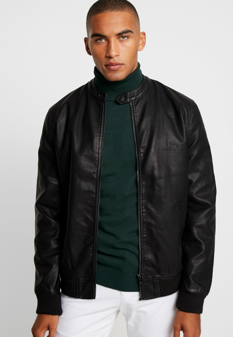 Pier One - Faux leather jacket -  black