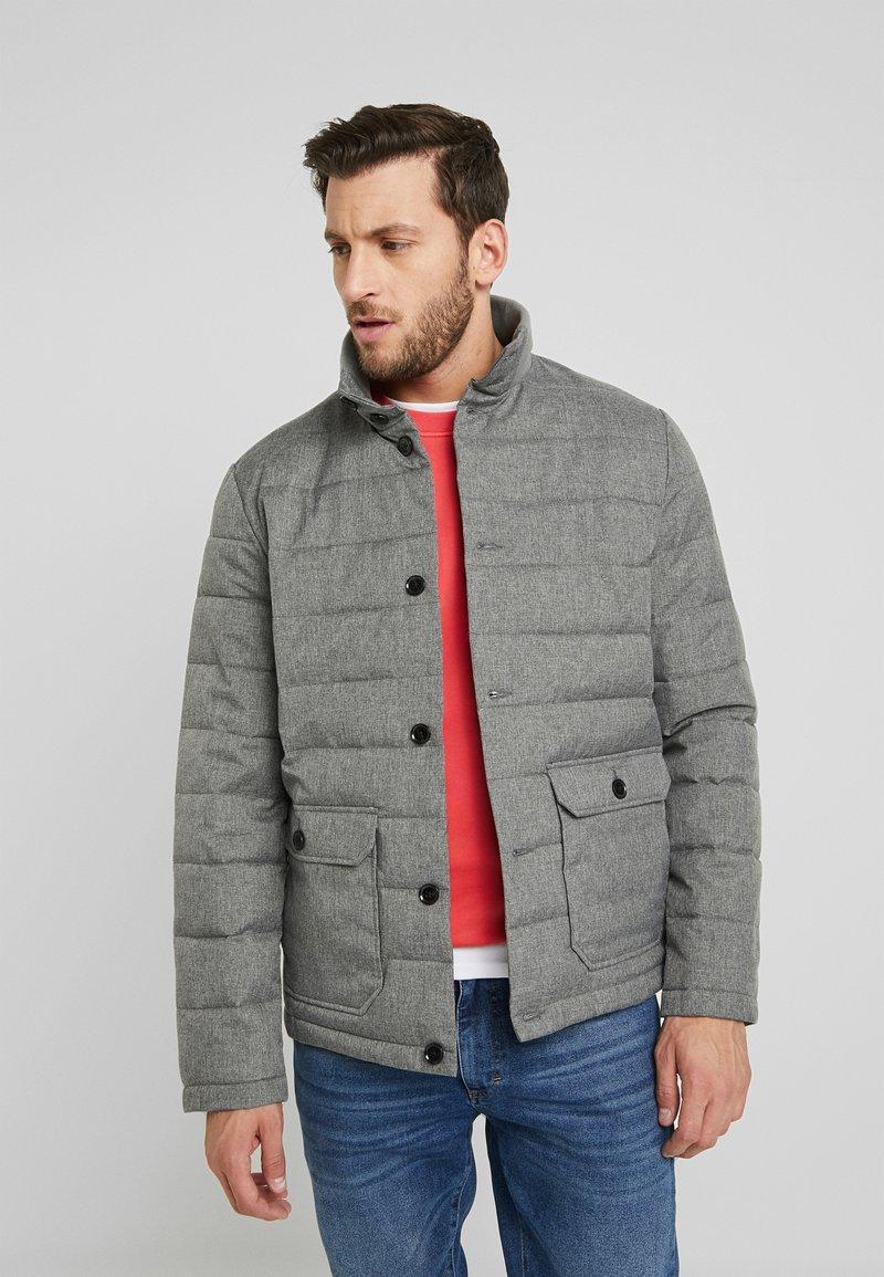 Pier One - Winter jacket - mottled dark grey