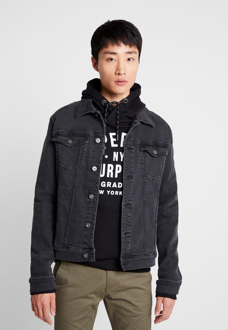 Pier One - Jeansjakke - black denim