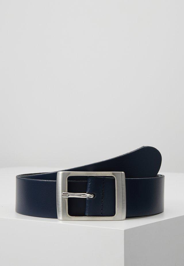 LEATHER - Cinturón - dark blue
