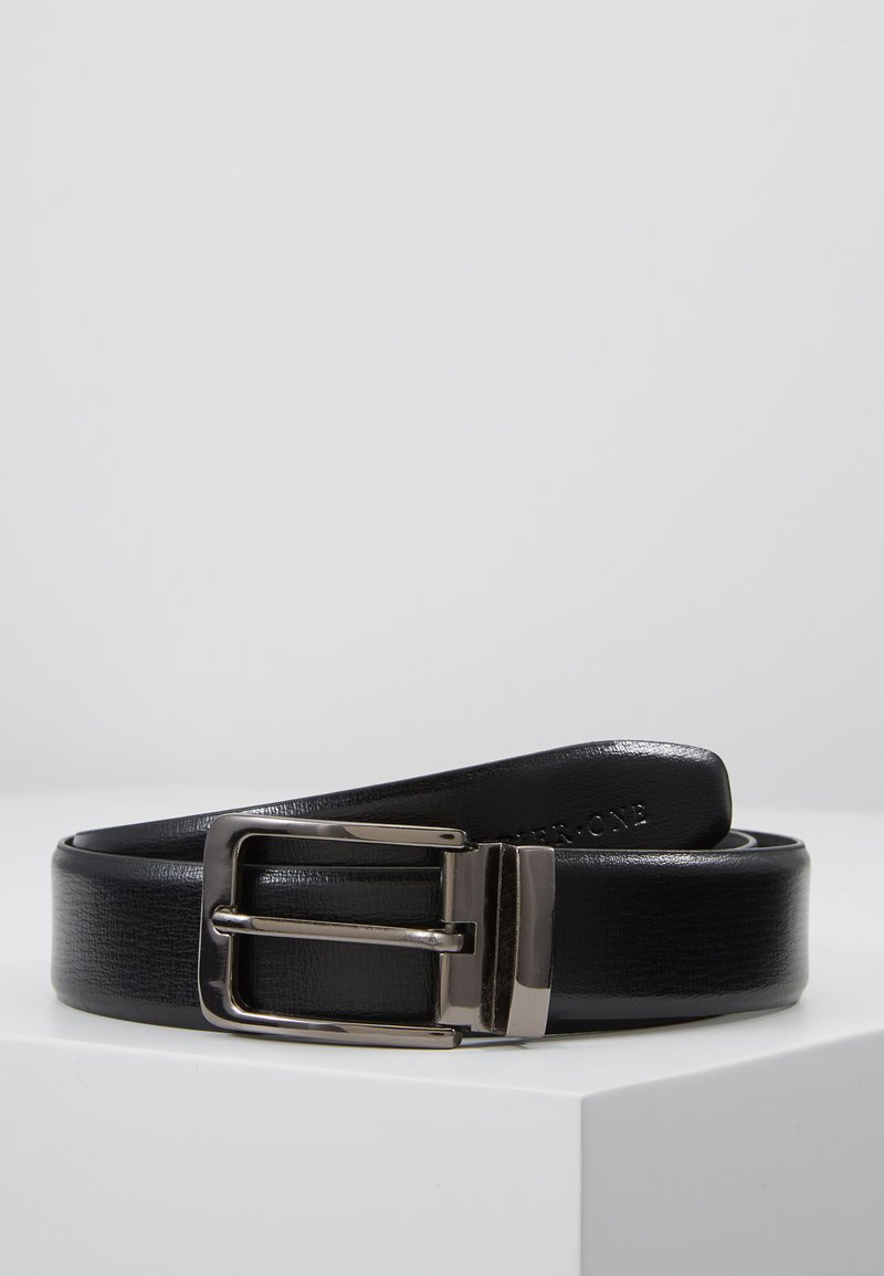 Pier One - LEATHER - Riem - black