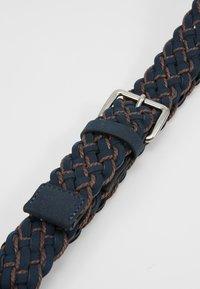 Pier One - UNISEX - Belt - dark blue/cognac - 4