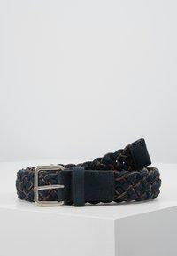 Pier One - UNISEX - Belt - dark blue/cognac - 0