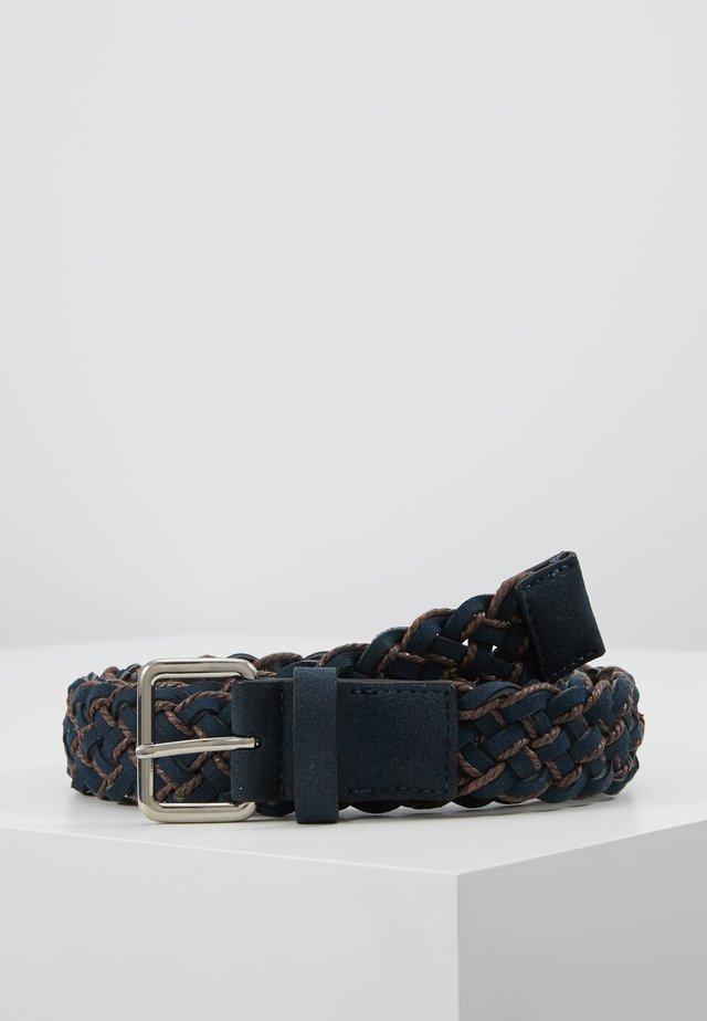 Cinturón - dark blue/cognac