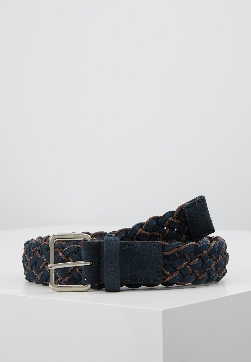 Pier One - UNISEX - Belt - dark blue/cognac