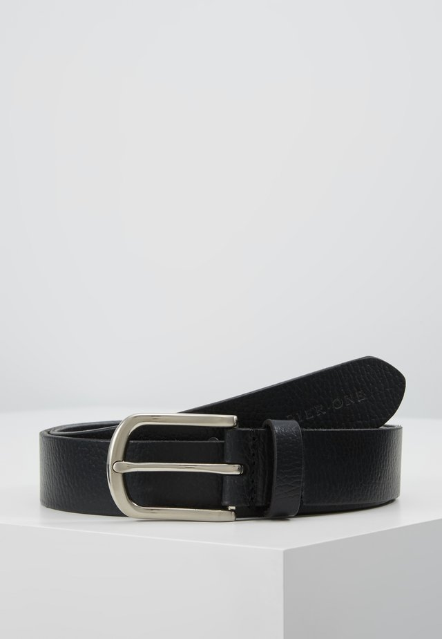 LEATHER - Belt - black