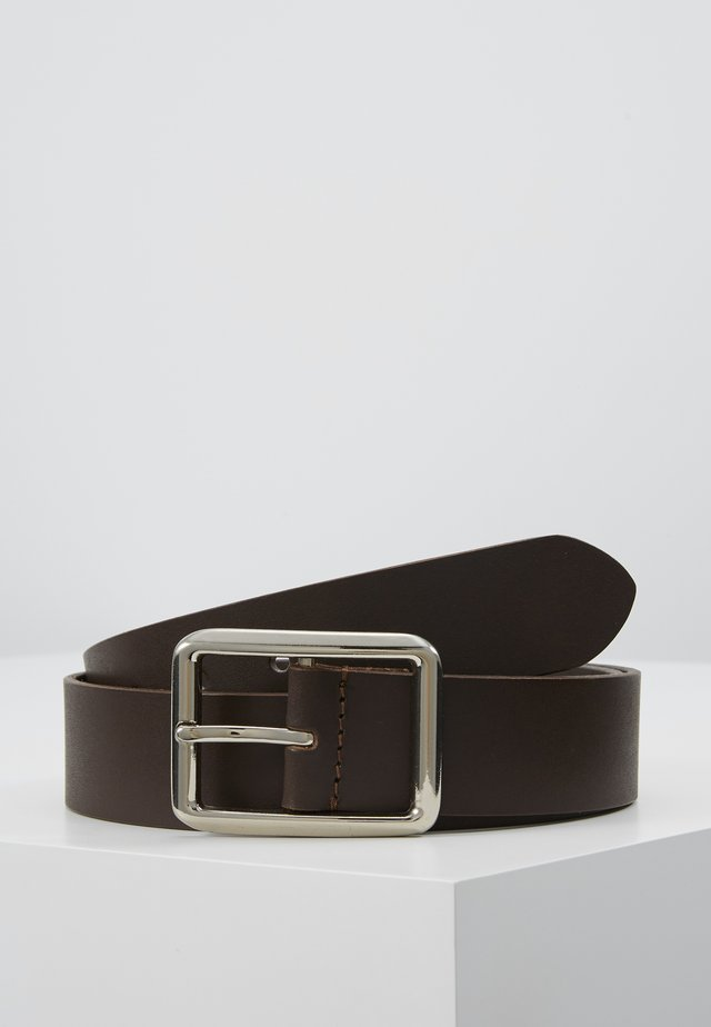 LEATHER - Cintura - dark brown
