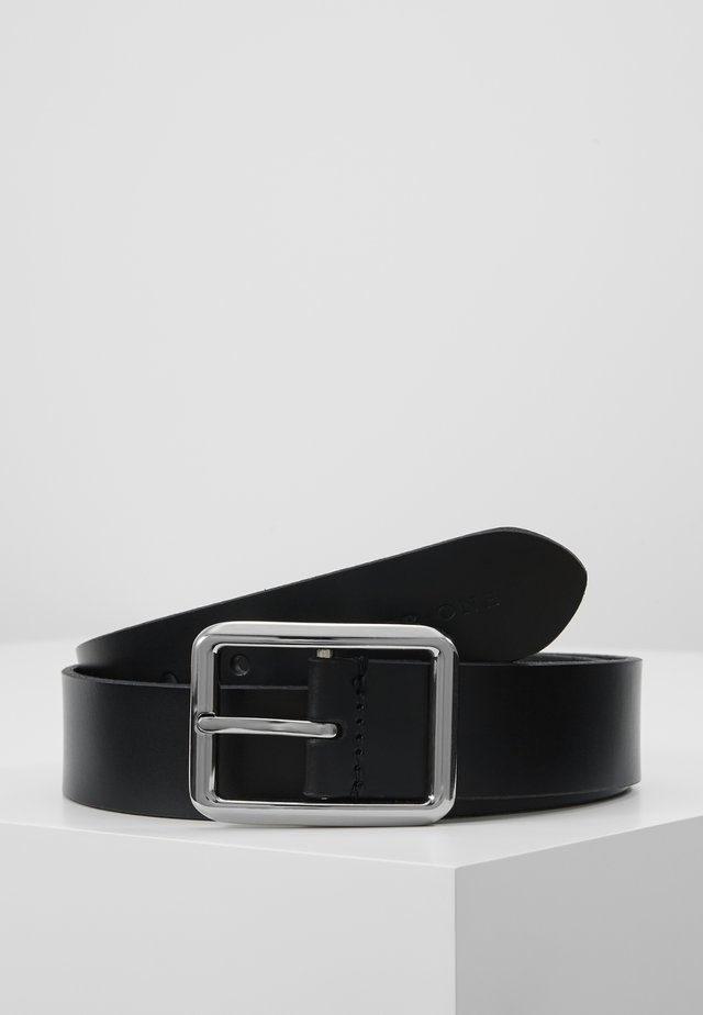 LEATHER - Cinturón - black