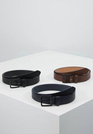 3 PACK - Belt - dark blue/black/brown