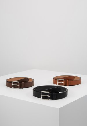 3 PACK - Pasek - cognac/black/brown