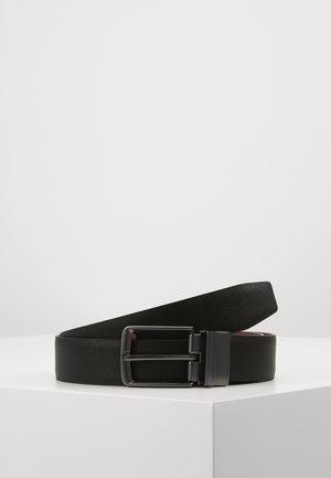 Belt - black/ cognac