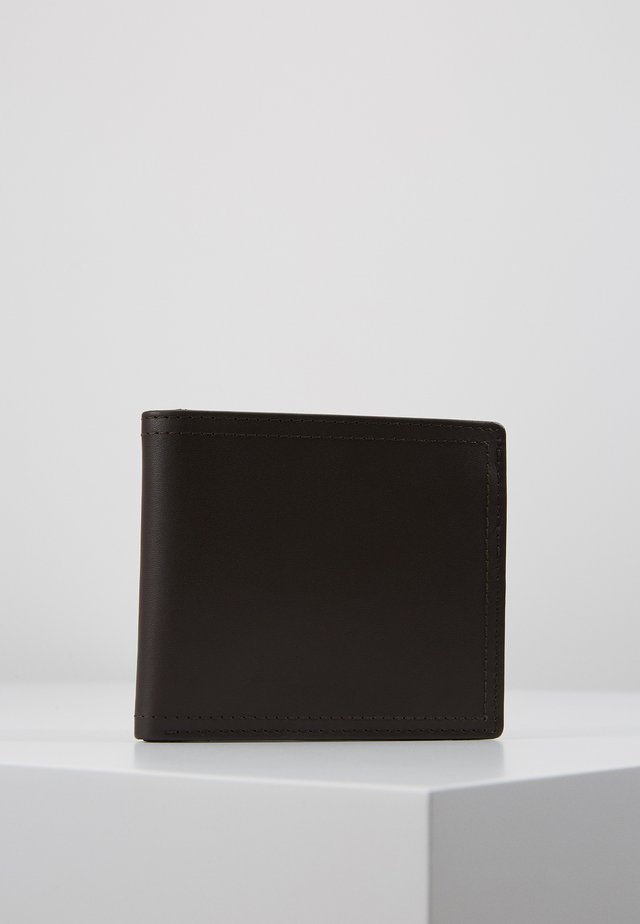 LEATHER - Wallet - dark brown