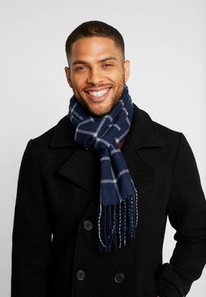 Scarf - light grey/ dark blue