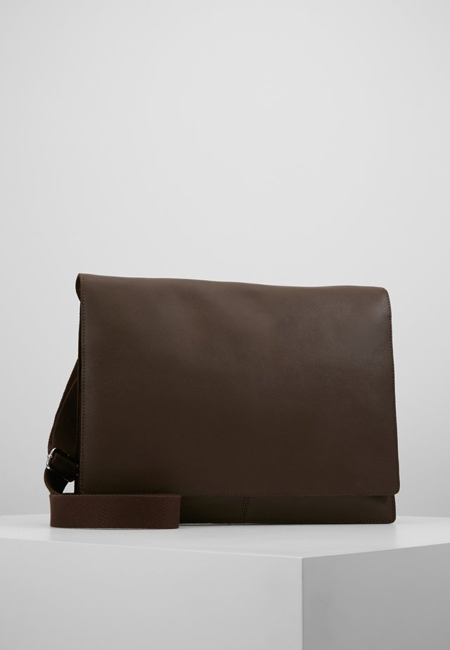 LEATHER - Sac bandoulière - dark brown