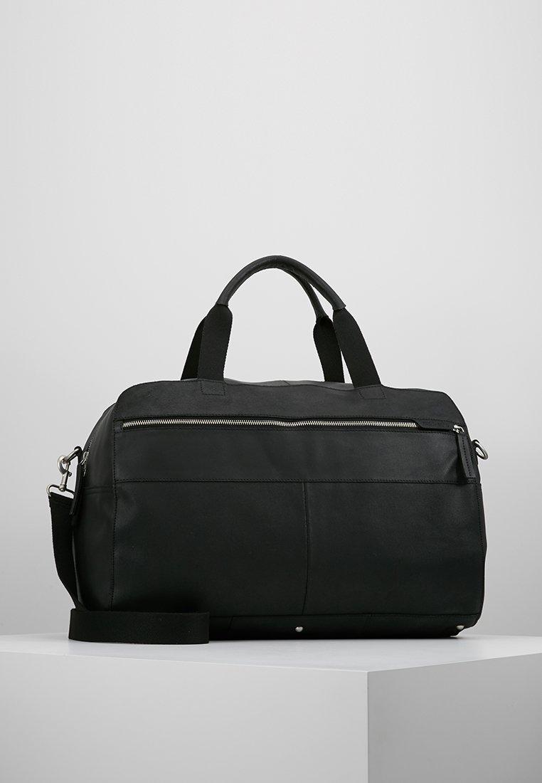 Pier One - LEATHER - Weekendbag - black