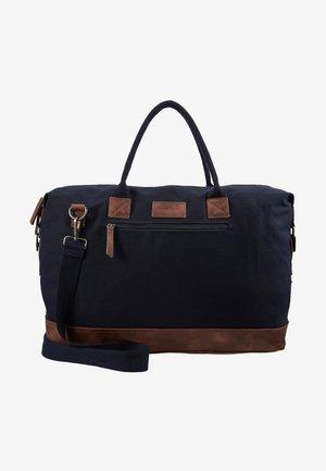 Weekend bag - dark blue/brown