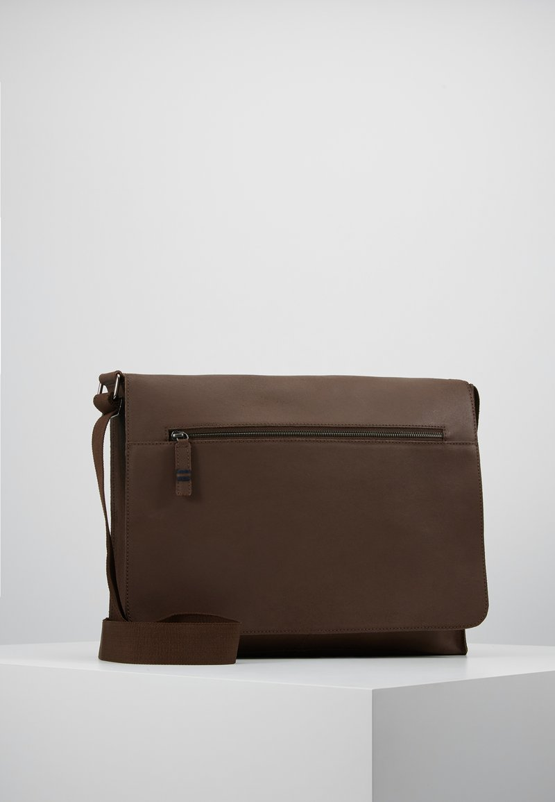 Pier One - LEATHER - Across body bag - brown