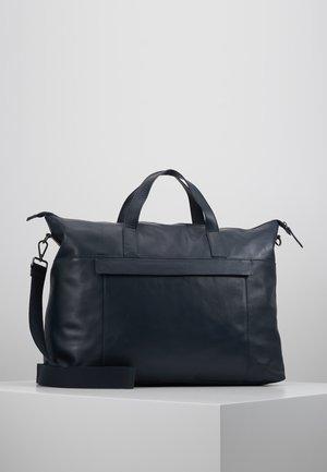 LEATHER - Weekend bag - dark blue