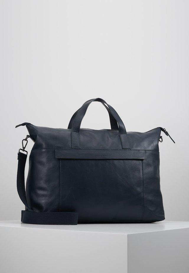 LEATHER - Weekendbag - dark blue