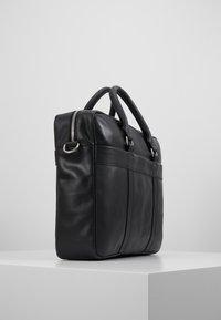 Pier One - LEATHER - Briefcase - black - 3