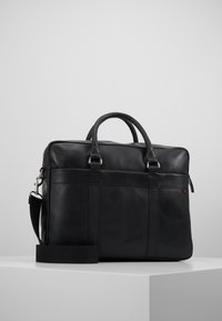 Pier One - LEATHER - Briefcase - black - 0