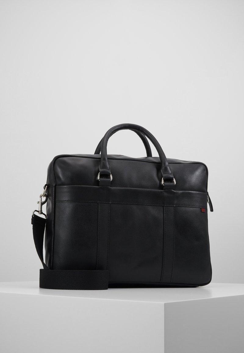 Pier One - LEATHER - Briefcase - black