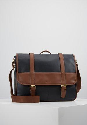 Briefcase - dark blue/cognac