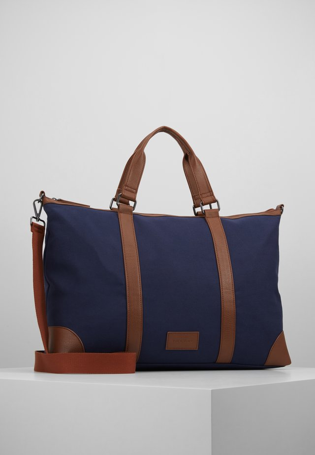 Weekend bag - dark blue/cognac