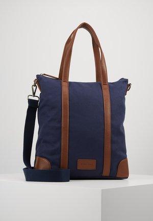 Shoppingveske - dark blue/cognac