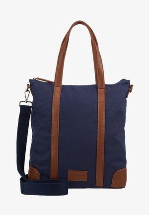 UNISEX - Tote bag - dark blue/cognac