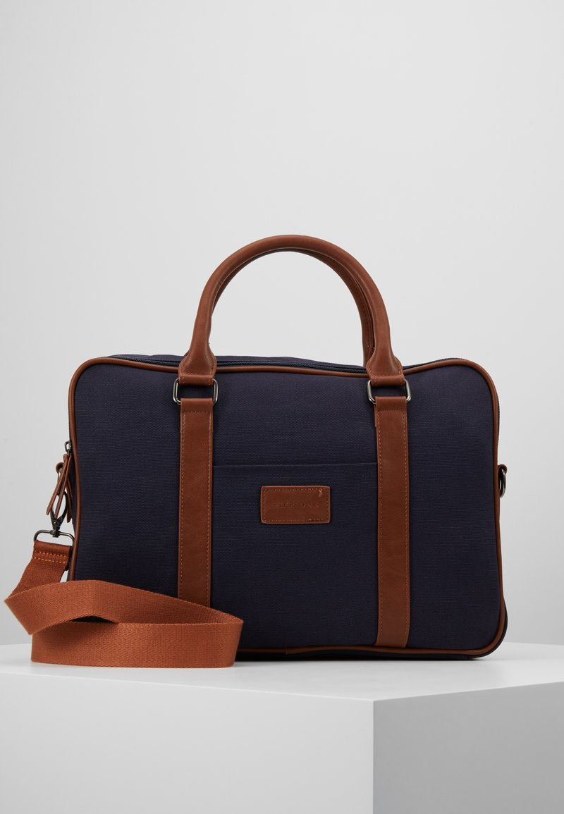 Pier One - Attachetasker - blue/ brown