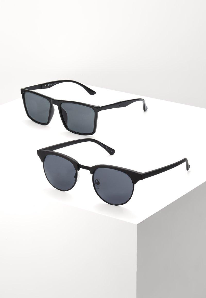 Pier One - 2 PACK - Sunglasses - black