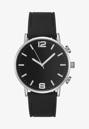 Montre - silver-coloured/black