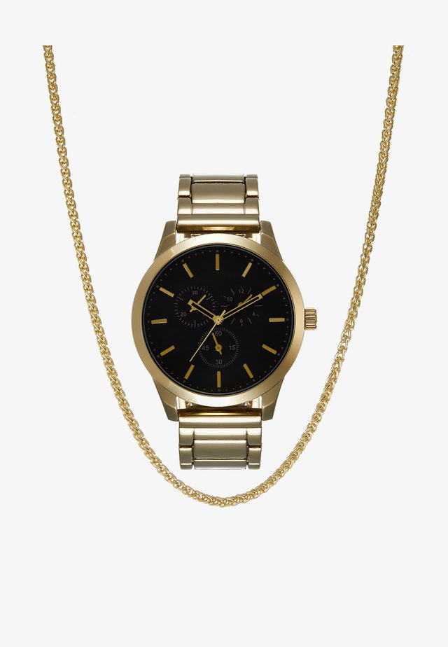 SET - Klocka - gold-coloured