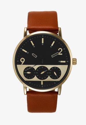 Uhr - cognac/gold