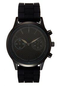 Pier One - SET - Horloge - black/cognac - 2