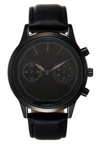 Pier One - SET - Horloge - black/cognac - 1