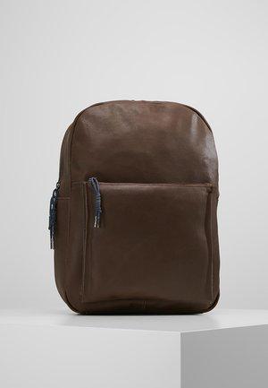 LEATHER - Plecak - dark brown