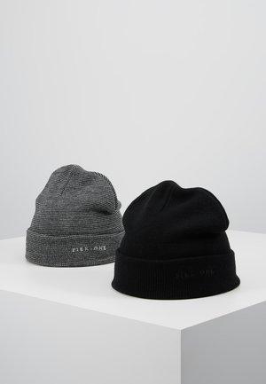 2PACK - Mössa - light grey/black