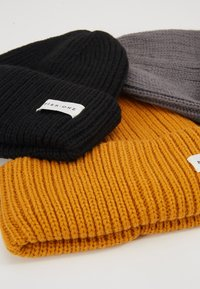 Pier One - Mütze - mustard/dark grey/black - 4