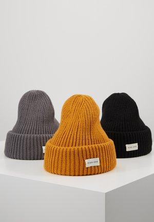 Bonnet - mustard/dark grey/black